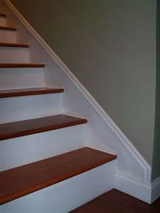 Faux, Baseboards, Completed, With, Paint, A, Chair, Rail, Show, Moulding, Nails, And, Caulk, Material