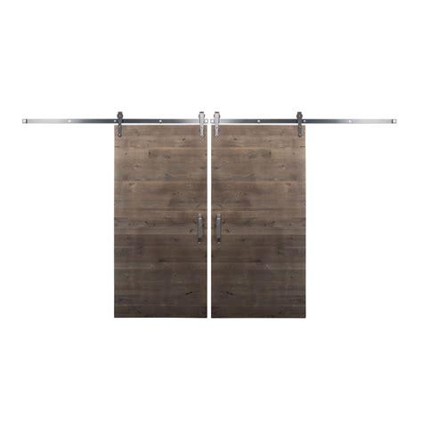 bi parting barn door hardware rustica hardware bi parting 36 in x 84 in rustica
