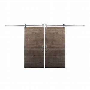 rustica hardware bi parting 36 in x 84 in rustica With bi parting sliding barn doors