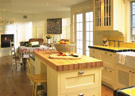 yellow kitchen island dazzling butcher block island in kitchen traditional with 1219