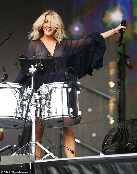 Ellie Goulding Flashes Her Nude Coloured Bra At British Summer Time