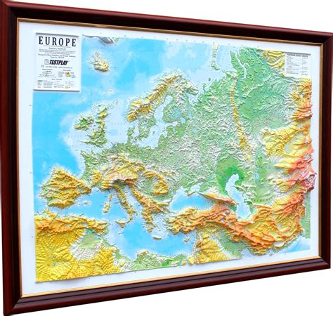 raised relief map  europe  cosmographics