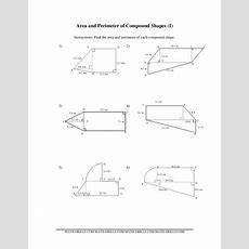 Area And Perimeter Of Compound Shapes (i) Worksheet For 6th  10th Grade  Lesson Planet