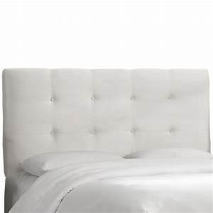 Dossier De Lit : skyline furniture dossier capitonn pour lit jumeau polyester microdenier de ton blanc home ~ Teatrodelosmanantiales.com Idées de Décoration