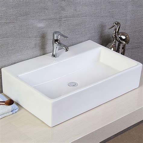 rectangular kitchen sink rectangle bathroom ceramic above counter basin kitchen 1753