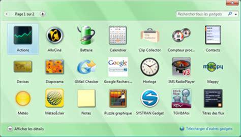 gadgets de bureau windows 7 gratuit pc astuces 10 gadgets pour windows vista