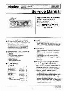 Clarion Dxz655mp Wiring Diagram