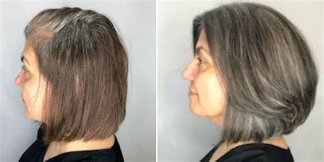 gray tips  transitioning  gray hair