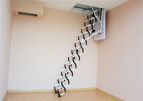 wooden folding attic electric attic folding stairs space saving loft ladders