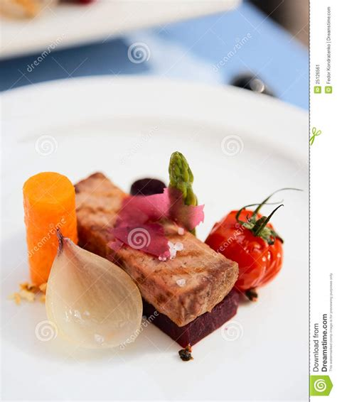 modern cuisine modern cuisine dish stock image image of design