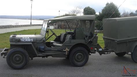 wwii jeep willys 1942 willys ford gpw ww2 jeep and trailer