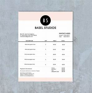Modern Invoice Template Free Invoice Template Billing Template Photography Invoice