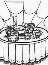 Thanksgiving Coloring Feast Comment sketch template