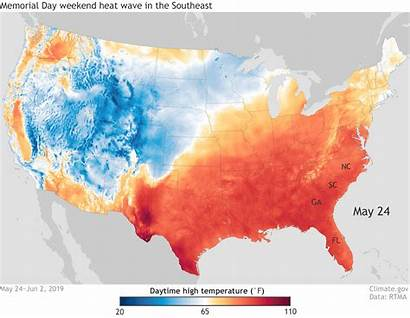 Heat Wave Southeast Climate Change Weekend States