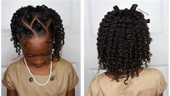 Mini Bantu Knots w/Two Strand Twistout Kids Natural