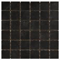floor and decor uptown antracite uptown black porcelain mosaic 12 x 12 912400376