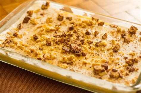 how to make desserts how to make a butterfinger dessert 9 steps with pictures