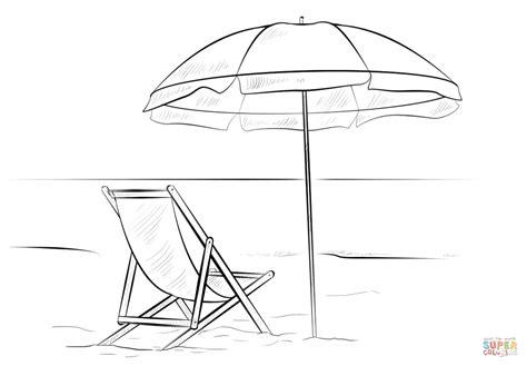 Parasol Kleurplaat by Dibujo De Hamaca Y Sombrilla Para Colorear Dibujos Para