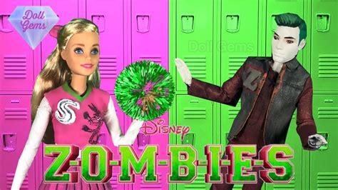 disney zombies barbie doll video zed  addison milo