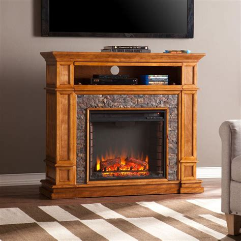 portable fireplace tv stand southern enterprises ethan 45 5 in w simulated