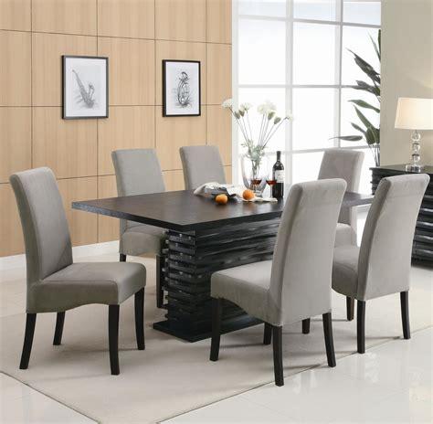 coaster stanton   black wood dining table set