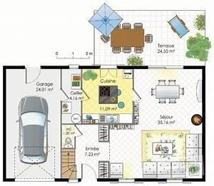 Maison francilienne 1 Détail du plan de Maison francilienne 1 Faire construire sa maison