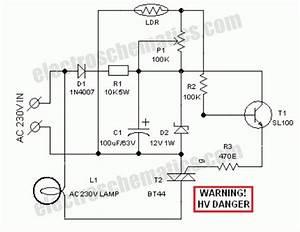 ldr light dependent resistor photoresistor circuit With motion sensor light wiring diagram on floor lamp switch wiring diagram
