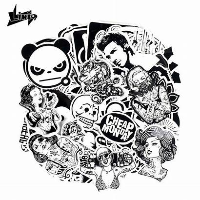 Doodle Cool Stickers Decals Bike Character 60pcs