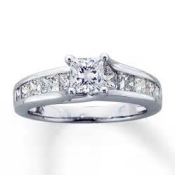 2 ct princess cut engagement rings engagement ring 2 ct tw princess cut 14k white gold