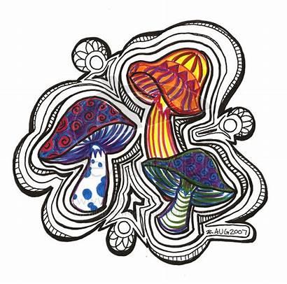 Trippy Drawings Drawing Shrooms Mushroom Easy Mushrooms