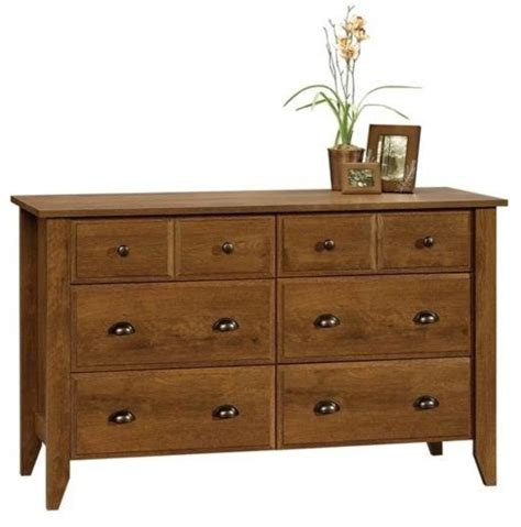 shoal creek  drawer dresser oiled oak finish