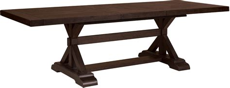 extendable rectangular dining table fulton st brown rectangular extendable pedestal dining