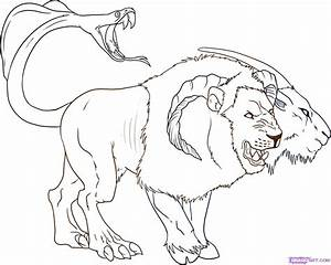 How To Draw a Chimera, Step by Step, Chimeras, Mythical ...