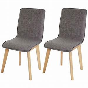 Stühle Retro Design : 2x esszimmerstuhl zadar stuhl lehnstuhl retro 50er jahre design textil grau ohne naht ~ Indierocktalk.com Haus und Dekorationen