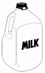 Milk Coloring Bottle Jug Clipart Gallon Pages Water Cliparts Clip Action Empty Library Clipartmag Anycoloring sketch template
