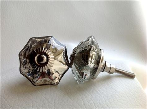 mercury glass cabinet knobs antique style vintage silver mercury glass cabinet knobs