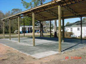 barn kits by panhandle salvage bonifay florida With 40x60 concrete slab