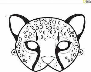 animal mask template wild kratts or animal party With cheetah face mask template