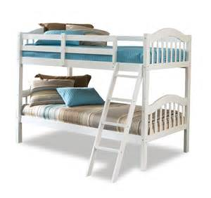 stork craft long horn bunk bed white home furniture