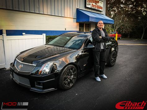 cadillac cts  lowered  eibach springs beforeafter