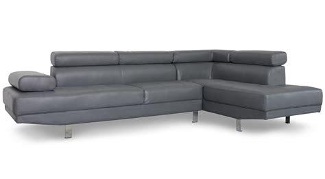 canape angle simili canapé d 39 angle avec têtières relevables simili gris olda