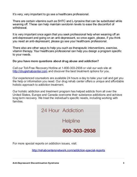 antidepressant discontinuation