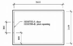 Floor Plan Of The Single Room Model Iso 9705