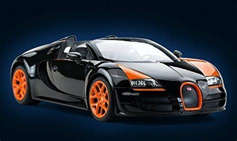 The bugatti veyron 16.4 grand sport is the world's fastest and most exciting roadster, and will be displayed to the public for the first time on the afternoon of august 16, 2008, outside the lodge at pebble beach. Radio Remote Control 1/14 Bugatti Veyron 16.4 Grand Sport Vitesse RC Model Car | eBay