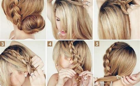 big braided bun elegant hairstyle