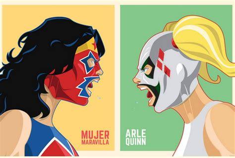 asi se verian personajes de comics  fuesen de lucha libre