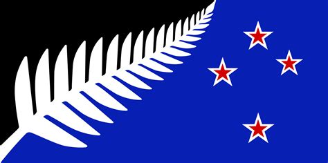 design a flag file nz flag design silver fern black white blue by