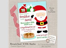 Breakfast with Santa Invitation Christmas Party Invitation