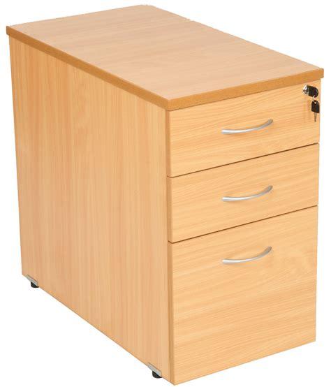 desk file cabinet oak beech or light oak mfc 3 drawer desk high pedestal 600