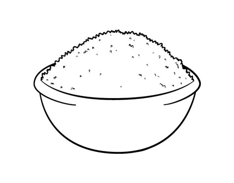 Coloring Rice rice dish coloring page coloringcrew